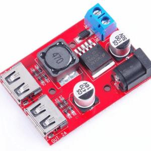 DC-DC Convertitore Buck Step Down Modulo 36V 24V 12V 9V (6V-40V) to 5V 3A Dual USB Output Car charger Regolatores