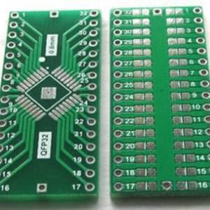 Adattatore 2 pezzi da QFP32 a DIP32 passo 0,8 mm