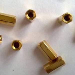 Cilindro in ottone esagonale da 12 pezzi da 10 pezzi - dorato