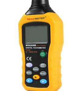 MS6208B Contagiri digitale di misura senza contatto 50-250mm con registrazione dei dati di 100 gruppi