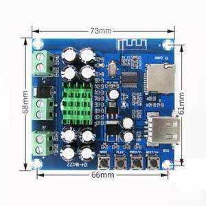 XH-M422 DC12-24V TPA3116D2 Scheda amplificatore Bluetooth 4.0 da 50 W + 50 W con lettore di schede TF U disco Bluetooth