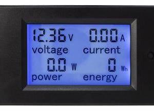 DC LCD Misuratore di potenza amperometro voltmetro LCD digitale Shunt incorporato del motore DC