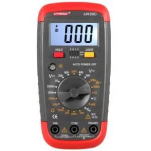 Multimetro digitale UA33C, display digitale, UA33C, resistenza, con temperatura, con cicalino