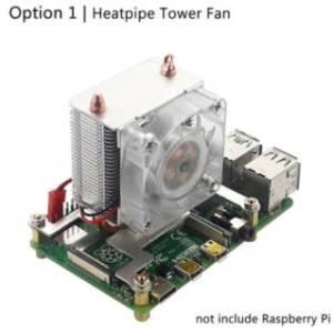Ventilatore a torre Heatpipe / Raspberry Pi 4 Ventilatore di raffreddamento a torre ICE Ventilatore a LED a 7 colori LED Dissipa