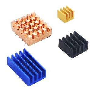13 * 12 * 5MM rame, 14 * 9 * 5MM blu, 9 * 9 * 5MM nero, dissipatore di calore del radiatore 4 * 4 * 5mm per RPI4