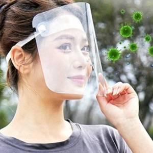 Maschera sanitaria antipolvere trasparente riutilizzabile