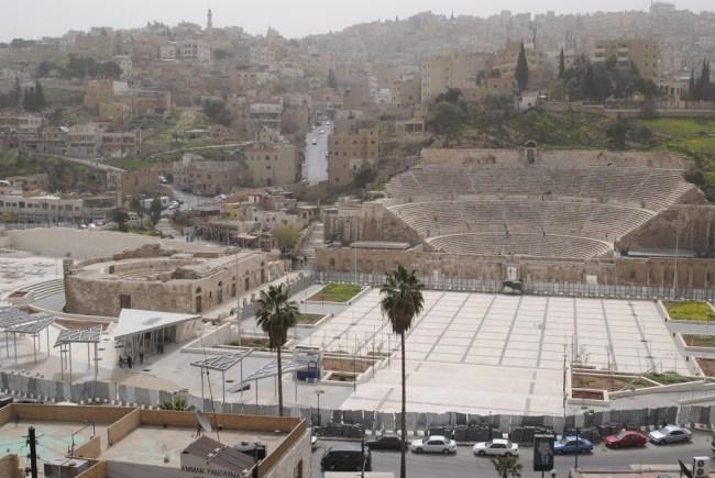 Teatro romano en ciudad de Ammán