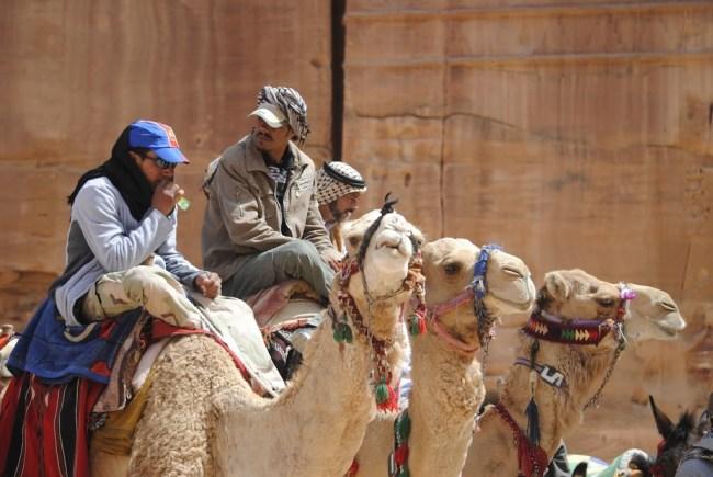 Beduinos en Petra