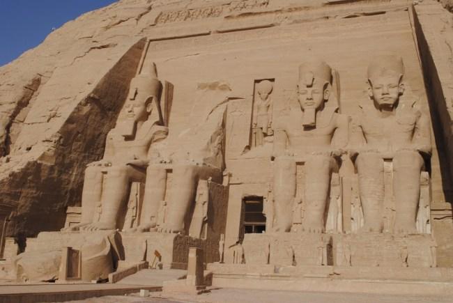 Fachada del templo de Abu Simbel