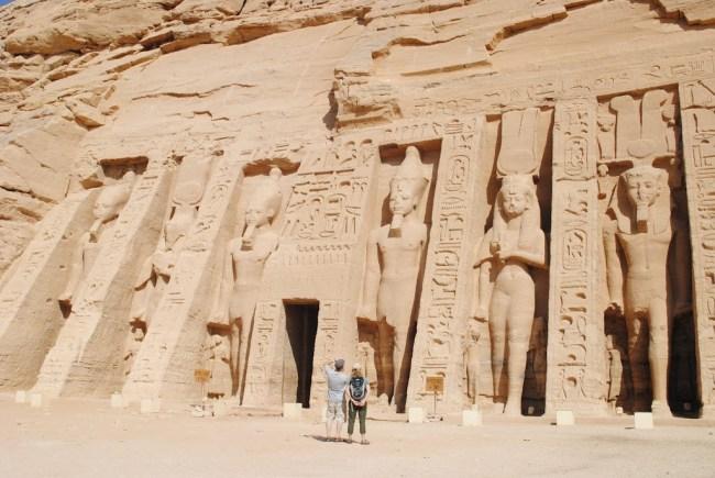 Templo en honor a la esposa de Ramsés II, Abu Simbel, Egipto