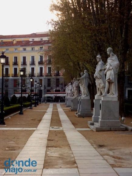 Parque en ciudad de Madrid