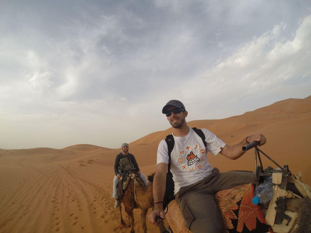 En el desierto de Sahara