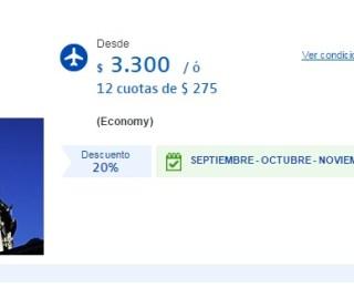 Vuelo a Asunción por $3.300