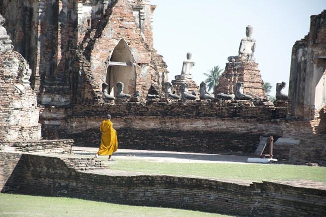 Monje en Ayutthaya