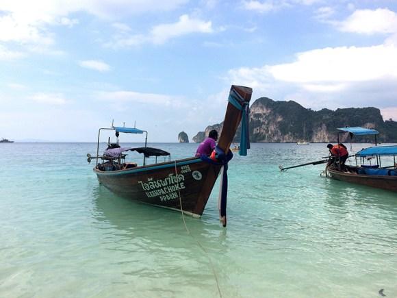 Taxi boat en Ko Phi Phi
