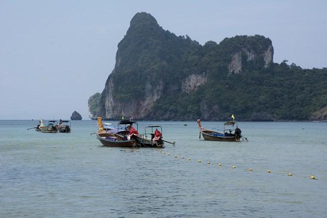 Taxi boats en Ko Phi Phi