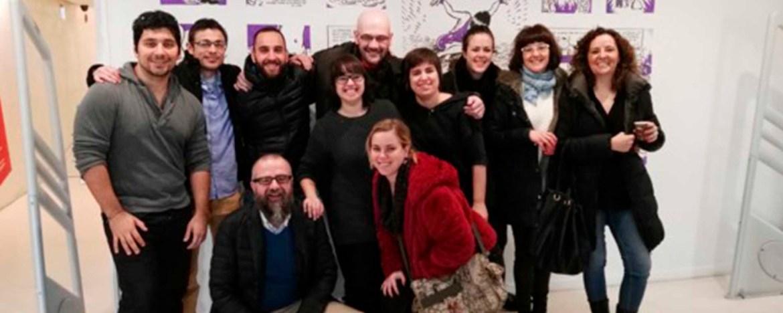 Don Diseño El emprendedor no esta solo - 05 - Algunos integrantes del semillero con Juan Royo, formador de Responsabilidad Social Corporativa en este sexto Semillero de Ideas de Zaragoza Activa - La Azucarera - (Ayuntamiento de Zaragoza)