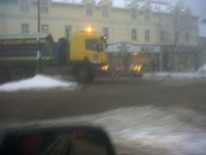 Gritters were back on Donegal's roads last night.