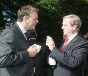 Taoiseach Enda Kenny and Deputy McHugh