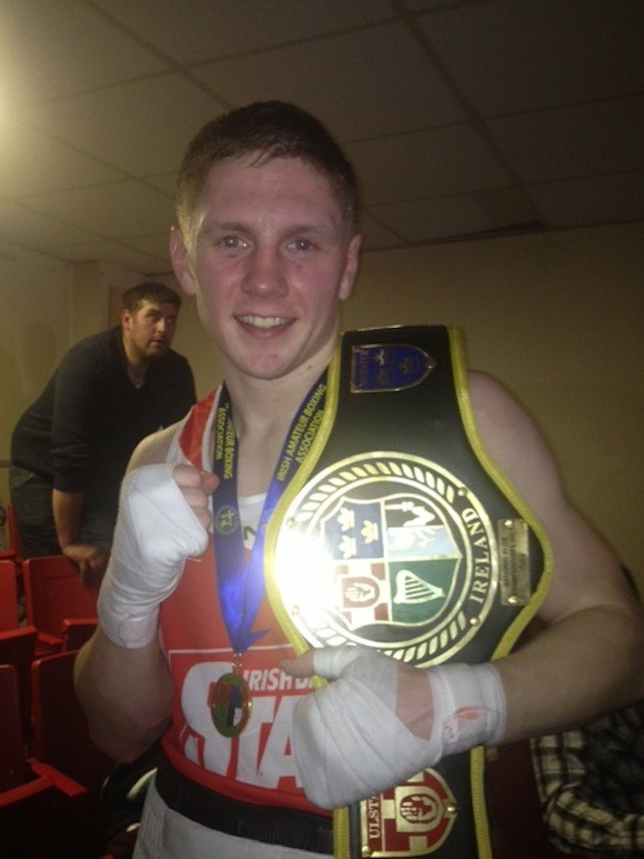 Jason Quigley moments after winning his Irish Elite Title donegaldaily.com
