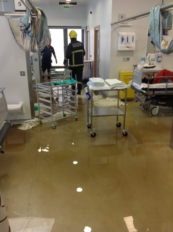 Pictures inside the hospital this evening