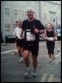 Senator Jimmy Harte proves he did the marathon!