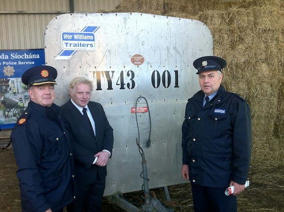 (Left to right) A/.Commissioner Jack Nolan Garda Headquarters, Mr. Davie Keith IFA Raphoe Sgt Paul Wallace