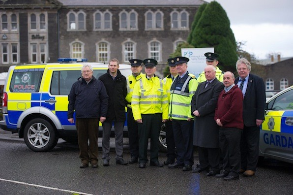 Cross Border Anti Drink Driving Campaign - An Garda Síochána in partnership with the Police Service of Northern Ireland this week launched a major joint Anti Drink Driving Campaign, which will continue until January 2014. The launch took place near Belleek on the Donegal/Fermanagh border. The launch demonstrates continued cooperation between the Garda and PSNI in the area of road safety and particularly in the enforcement of Drink Driving legislation on both sides of the border. from left are Brian Richardson, PCSP, Jamie Gallagher, Road Safety Officer Donegal County Council, Garrett Monaghan, Traffice Corp, Inspector Stephen Hasslett, Senior Sergant Joe Hannigan, Inspector Michael Harrison, traffic Corp., Niall Sherran, Traffic Corp, Cllr. Harry Rutherford and Stephen Lambert, RSA.   Photo Clive Wasson