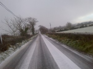 Many parts of Donegal had snow this morning.