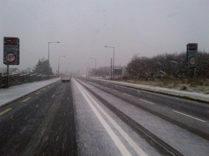 Conditions at Mountaintop in Letterkenny are already deteriorating this afternoon. Pic Donegal Daily.