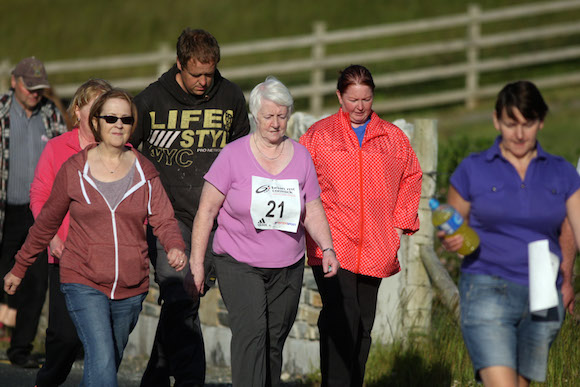 Some of the walker on the 5k on Friday night in Carrigart.