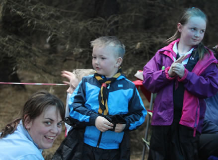 19th Donegal (Lifford) Beaver Scout leader Lisa McGuire with two young Beaver Scouts enjoying the outdoor cooking experience.  ((c) North West Newspix)