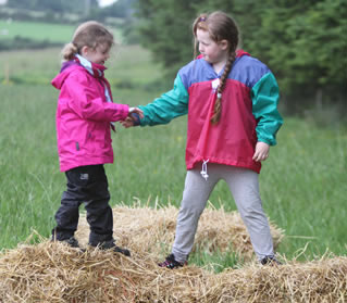 New friends playing at the Beaver Scout Camp.  ((c) North West Newspix)