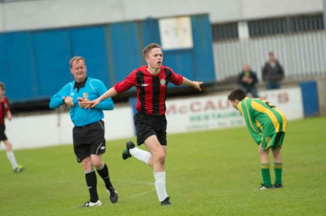 Lanty Molloy celebrates his goal.