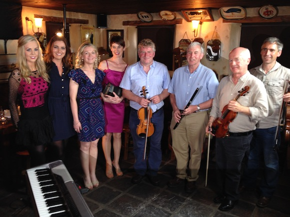 Dancers and musicians at McCafferty's Bar in Letterkenny.