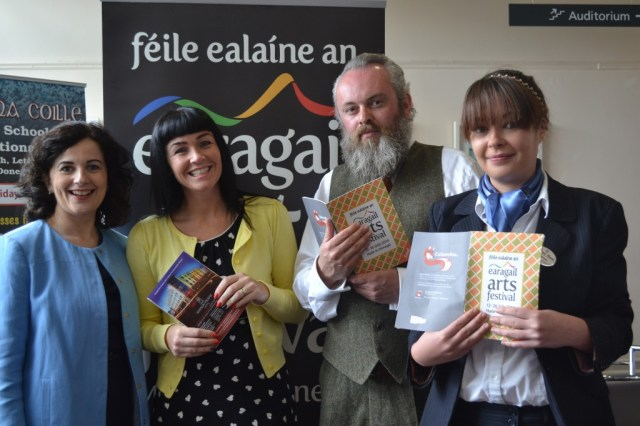 Joan Crawford of Failte Ireland and Siobhan Barrett Doherty, Sales and Marketing Manager, Station House Hotel, which is the premier accommodation sponsors for this year's Festival. Also pictured is Festival Director Paul Brown and venue sponsor representative, Ann Marie Mc Manus from the Clanree Hotel Letterkenny.