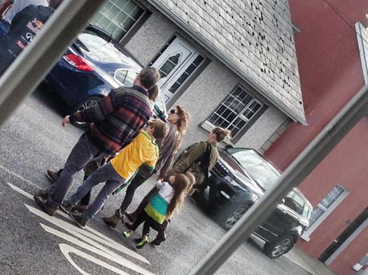 SJP and family spotted leaving Baskin's Fish and Chip Shop in Dunkineely yesterday.