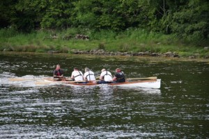 (Inver Rowing Club introduce their new Skiff the 'Charlie F' at Donegal)