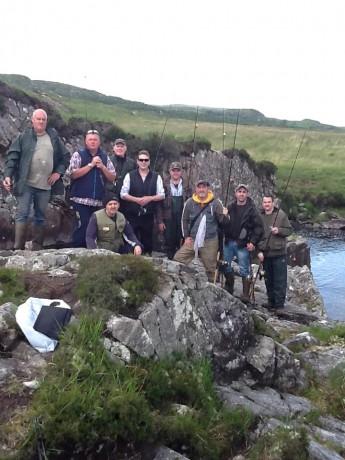Anglers at Doochary yesterday