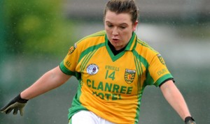 Donegal captain EIlish Ward. Ladies players who want to make the step up to senior county football can join an Open evening on Monday