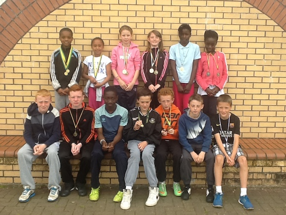 Medal winners from Illistrin in track and field events during the year.