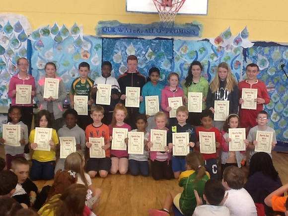 Winning team on sports day 2014
