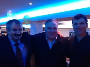 The late Bendan Ryan (left) with Frank McBrearty Jnr and son Danny Ryan.