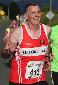 All in his stride. Shaun O' Donnell completes another 5K Road race. Pic.: Gary Foy
