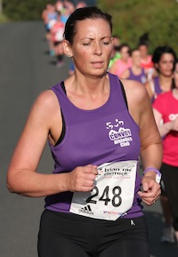 Lavinia Caulderbanks of Convoy Athletic Club pictured taking part in the St. Johnston 5K Road Race. Pic.: Gary Foy