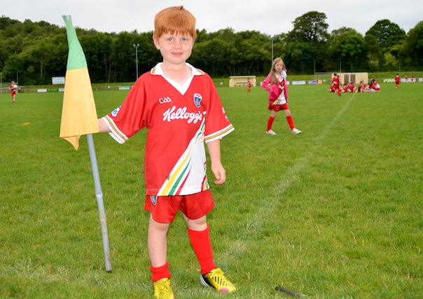 Charlie Kelly flags up the fun he had at the Glenswilly Cul Camp. ALL PICS BY GERALDINE DIVER