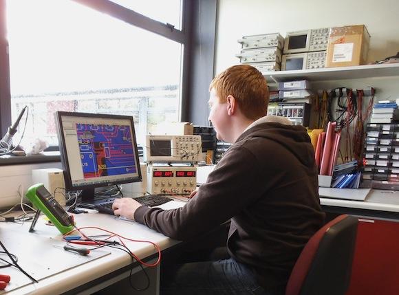 WiSAR Engineer Chrid McDaid at work in te CoLab.