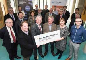 The WISER Lab team meet Enterprise Ireland Board.  Photo Clive Wasson