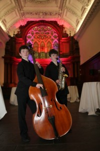 Conor, pictured here on the left, will be on stage with the National Youth Orchestra of Ireland
