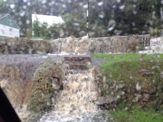 Flooding in Glen Village, Carrigart.